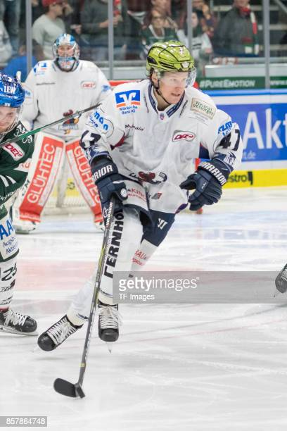 Alexander Bonsaksen of Iserlohn in action during the DEL match between Augsburger Panther and Iserlohn Roosters on September 29 2017 in Augsburg...