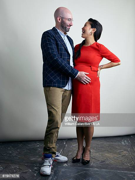 Alexander Botwin and actress Michelle Ang pose for a portrait BBC America BAFTA Los Angeles TV Tea Party 2016 at the The London Hotel on September...