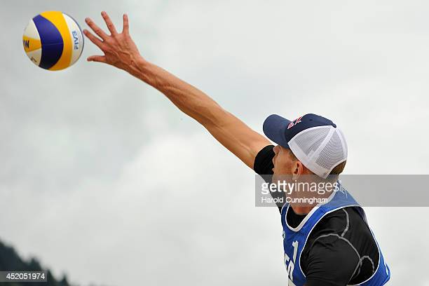 Alexander Brouwer of the Netherlands in action during the men main draw match BrouwerMeeuwsen v Vitor FelipeEvandro as part of the fourth day of the...