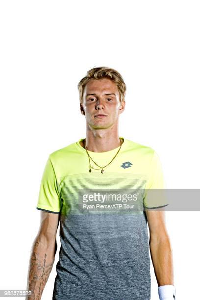 Alexander Bublik of Kazakhstan poses for portraits during the Australian Open at Melbourne Park on January 13 2018 in Melbourne Australia