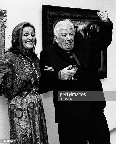 Alexander Calder and date attend Marlborough Gallery Opening on October 10 1973 in New York City