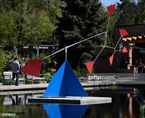 Alexander Calder's sculpture entitled 6 Dots Over A Mountain at the Denver Botanic Gardens May 5 2017 in Denver Colorado The new exhibit Calder...