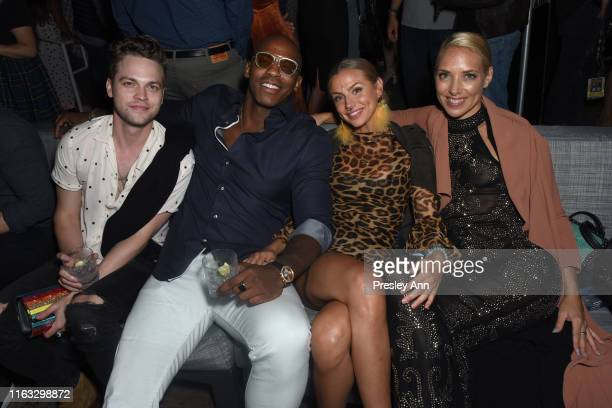 Alexander Calvert Mehcad Brooks guest and Hannah Fraser attend Entertainment Weekly's ComicCon Bash held at FLOAT Hard Rock Hotel San Diego on July...