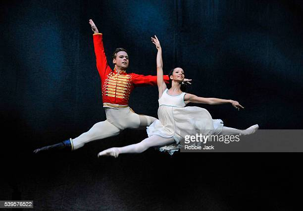 Alexander Campbell as HansPeter and Francesca Hayward as Clara in the Royal Ballet's production of Peter Wright's The Nutcracker at the Royal Opera...