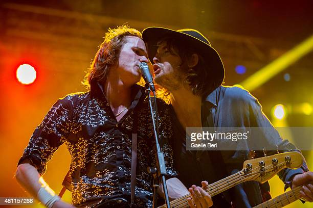 Alexander 'Chilli' Jesson and Samuel Thomas Fryer of Palma Violets perform live at FIB Benicassim Festival on July 17 2015 in Benicassim Spain