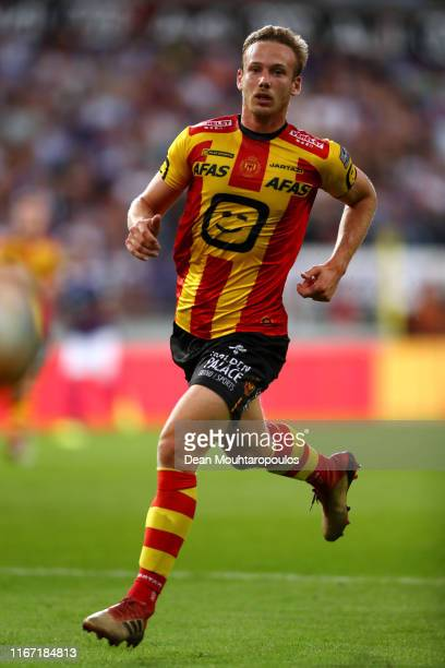 Alexander Corryn of KV Mechelen in action during the Jupiler Pro League match between RSCA or Royal Sporting Club Anderlecht and KV Mechelen at...