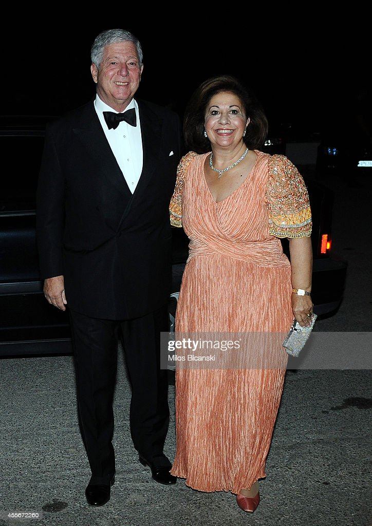 Alexander, Crown Prince of Yugoslavia and Katherine, Crown Princess of Yugoslavia arrives for a private dinner organized by former King Constantine II of Greece and former Queen Anne-Marie to celebrate their Golden wedding anniversary at the Yacht Club of Greece in Piraeus, Greece, 18 September 2014.