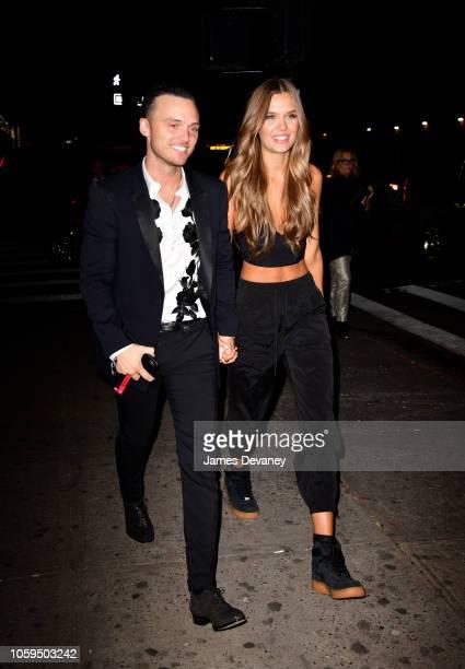 Alexander DeLeon and Josephine Skriver arrive to Avenue on November 8 2018 in New York City