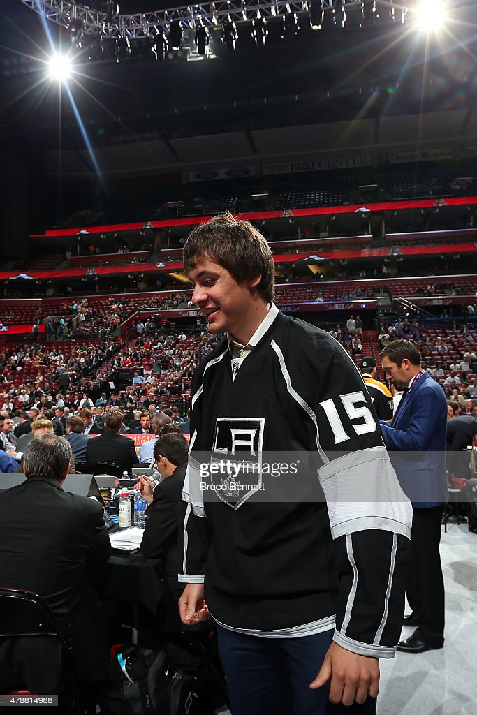 Alexander Dergachyov, 74th overall pick by the Los Angeles Kings, during the 2015 NHL Draft at BB&T Center on June 27, 2015 in Sunrise, Florida.