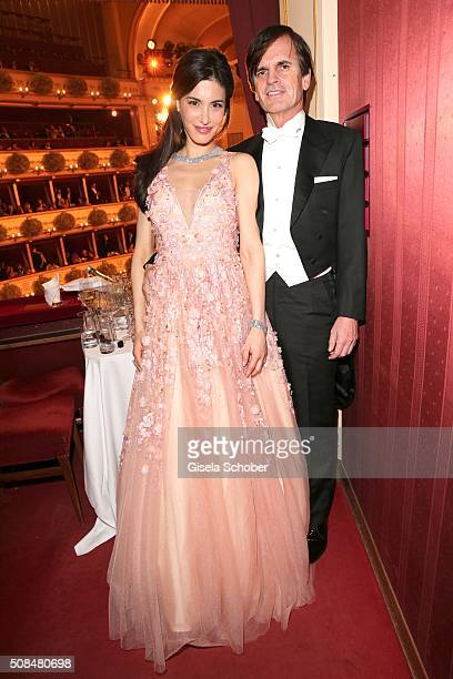 Alexander Dibelius and his wife Laila Maria Witt Dibelius during the Opera Ball Vienna 2016 at Vienna State Opera on February 4, 2016 in Vienna,...