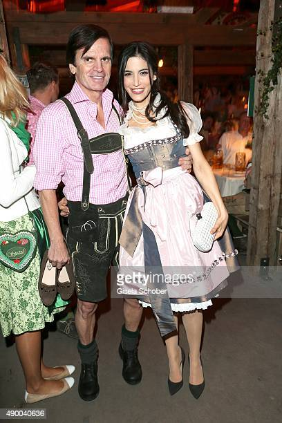 Alexander Dibelius and his wife Laila Maria Witt during the Oktoberfest 2015 at Kaeferschaenke at Theresienwiese on September 25, 2015 in Munich,...