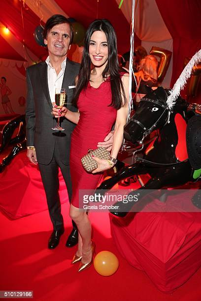 Alexander Dibelius and his wife Laila Maria Witt during the Bild 'Place to B' Party at Borchardt during the 66th Berlinale International Film...