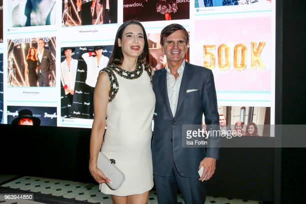 Alexander Dibelius and his wife Laila Maria Witt during the Douglas X Peter Lindbergh campaign launch at ewerk on May 30, 2018 in Berlin, Germany.