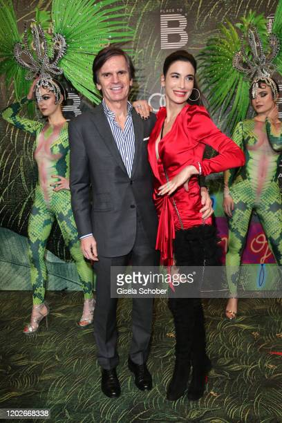 "Alexander Dibelius and his wife Laila Maria Witt during the Place To B Berlinale Party ""Garden of Eden"" at Borchardt Restaurant on February 22, 2020..."
