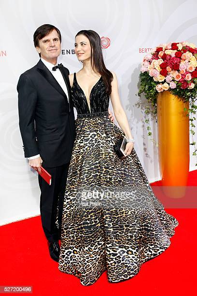 Alexander Dibelius and Laila Maria Witt attend the Rosenball 2016 on April 30, 2016 in Berlin, Germany.