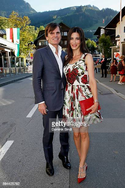 Alexander Dibelius and Laila Maria Witt attend the 'Shadow World' premiere and opening night of the Kitzbuehel Film Festival 2016 at Filmtheater...
