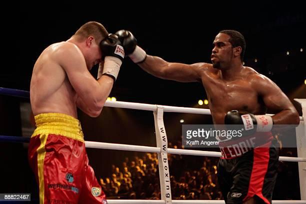 Alexander Dimitrenko of the Ukraine fights Eddie Chambers of the USA during the WBO Eliminator Heavyweight fight during the Universum Champions Night...