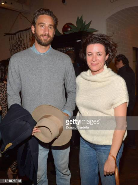 Alexander Dimitrijevic and Garance Dore attend Liz Goldwyn and MATCHESFASHIONCOM celebrate the launch of Frieze LA at Gracias Madre on February 13...