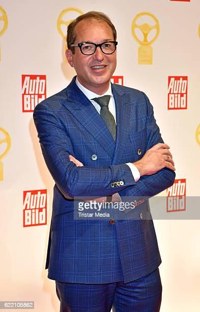 Alexander Dobrindt attends the 'Goldenes Lenkrad' Award at Axel Springer Haus on November 8 2016 in Berlin Germany