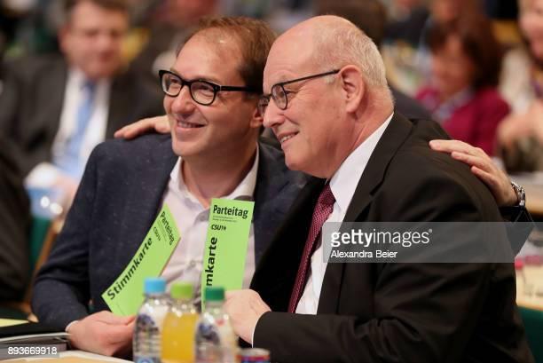 Alexander Dobrindt German Christian Democrats parlametary floor leader and Volker Kauder parliamentary floor lader of Christian Democratic Union and...