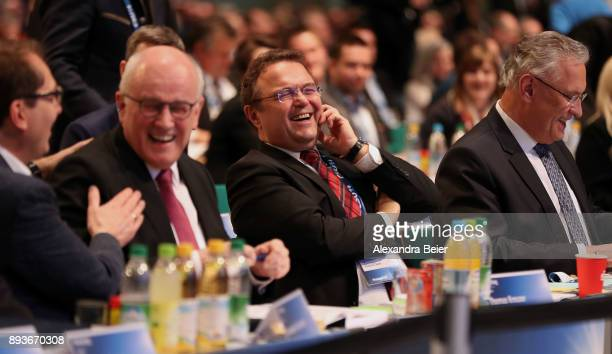 Alexander Dobrindt German Christian Democrats parlametary floor leader Volker Kauder parliamentary floor lader of Christian Democratic Union and CSU...