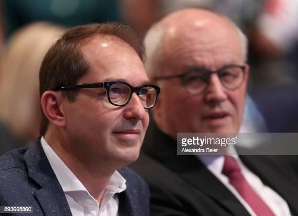 Alexander Dobrindt parlamentary floor leader of the Christian Social Union and Volker Kauder parlamentary group chair of CChristian Democratic Union...