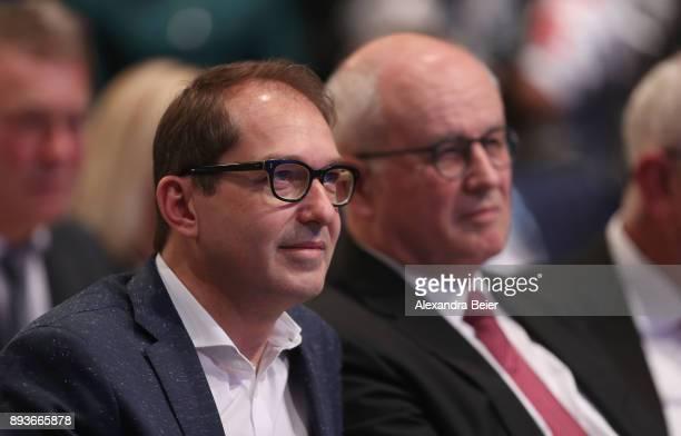 Alexander Dobrindt parlamentary floor leader of the Christian Social Union and Volker Kauder parlamentary group chair of Christian Democratic Union...
