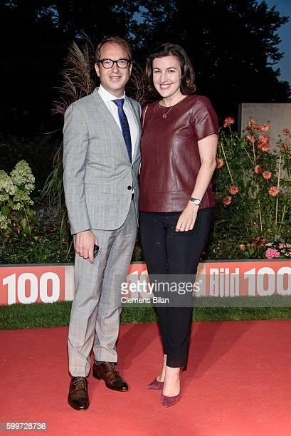 Alexander Dobrindt und Dorothee Baer attend the BILD100 event on September 6 2016 in Berlin Germany