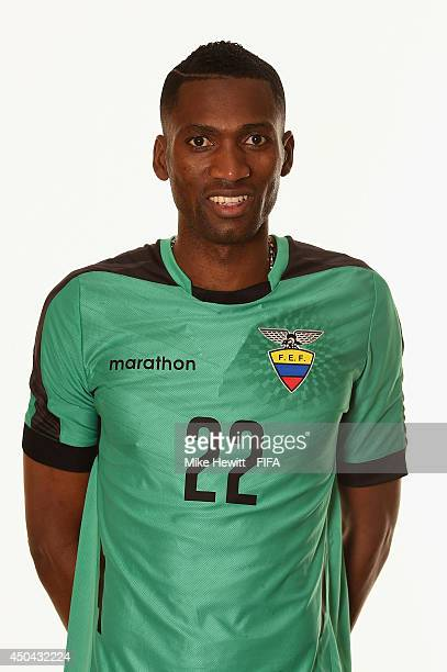 Alexander Dominguez of Ecuador poses during the official FIFA World Cup 2014 portrait session on June 10 2014 in Porto Alegre Brazil