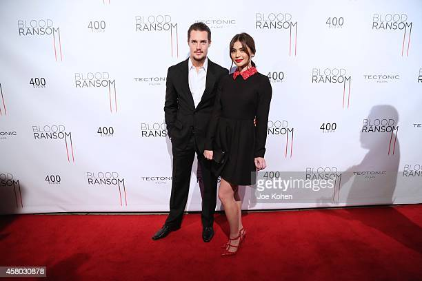 Alexander Dreymon and Anne Curtis attends 'Blood Ransom' Los Angeles Premiere at ArcLight Hollywood on October 28 2014 in Hollywood California