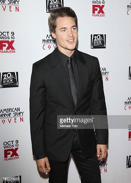 Alexander Dreymon arrives at the premiere of FX's American Horror Story Coven held at Pacific Design Center on October 5 2013 in West Hollywood...