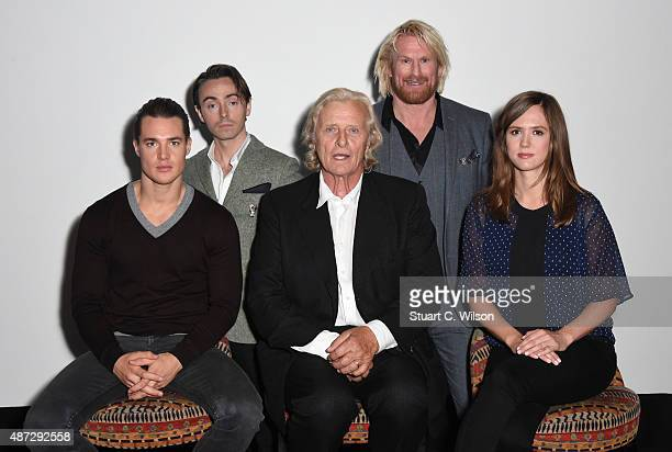 Alexander Dreymon David Dawson Rutger Hauer Rune Temte and Emily Cox attend a photocall for 'The Last Kingdom' at Charlotte Street Hotel on September...