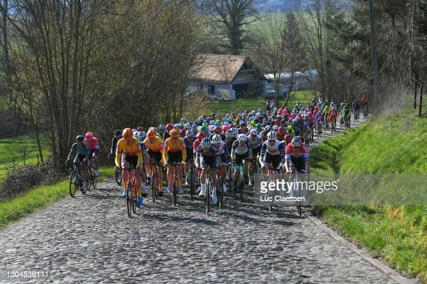 Alexander Edmondson of Australia and Team BikeExchange, Edward Planckaert of Belgium and Team Alpecin-Fenix, Ryan Mullen of Ireland and Team Trek -...