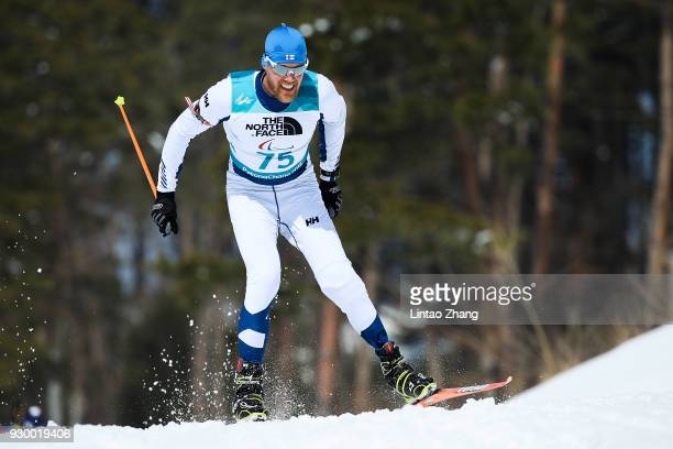 Alexander Ehler of Germany competes in the Men's 75 KM Biathlon event at Alpensia Biathlon Centre during day one of the PyeongChang 2018 Paralympic...