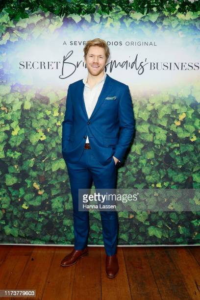 Alexander England attends a preview screening of Secret Bridesmaids' Business at Palace Verona on September 11 2019 in Sydney Australia