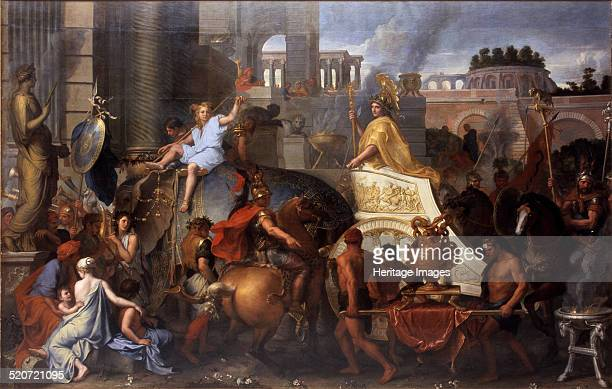 Alexander Entering Babylon Found in the collection of Louvre Paris