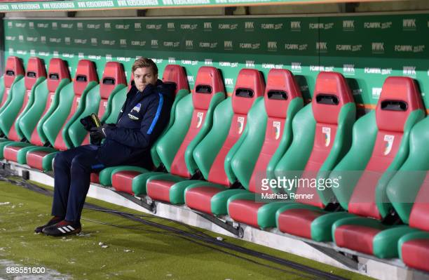 Alexander Esswein of Hertha BSC before the game between dem FC Augsburg and Hertha BSC on December 10 2017 in Augsburg Germany
