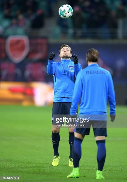 Alexander Esswein of Hertha BSC before the game between RB Leipzig and Hertha BSC on december 17 2017 in Leipzig Germany