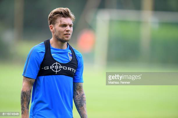 Alexander Esswein of Hertha BSC during the dritten Tages the traininglagers of Hertha BSC on july 10 2017 in Bad Saarow Germany