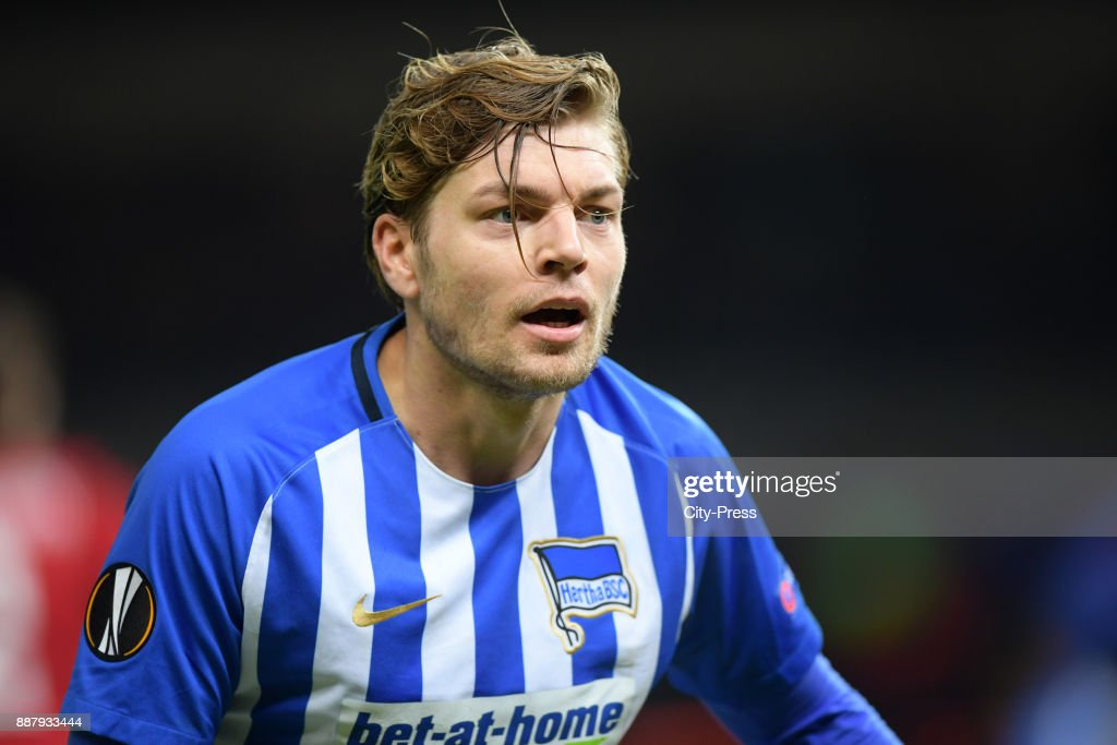 Alexander Esswein of Hertha BSC during the UEFA Europa League, Group J match between Hertha BSC and Oestersunds FK on December 7, 2017 in Berlin, Germany.