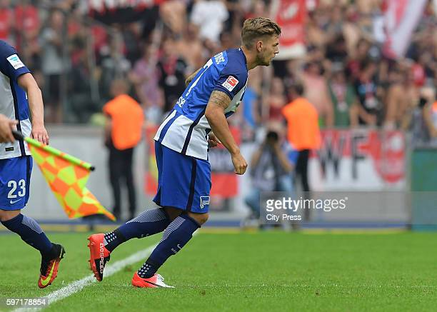 Alexander Esswein of Hertha BSC of Hertha BSC during the season beginning match between Hertha BSC and SC Freiburg on August 28 2016 in Berlin Germany