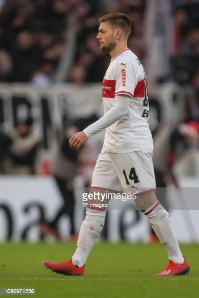 Alexander Esswein of VfB Stuttgart looks on during the Bundesliga match between VfB Stuttgart and 1 FSV Mainz 05 at MercedesBenz Arena on January 19...