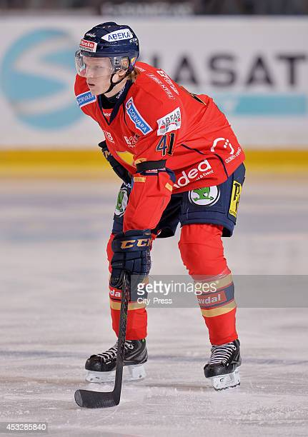 Alexander Falk during a Hockey Allsvenskan game in Johanneshov Sweden
