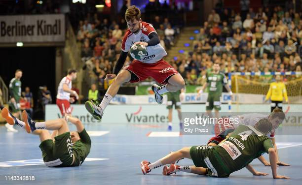 Alexander Falk of the Eulen Ludwigshafen during the match between the Fuechsen Berlin and the Eulen Ludwigshafen on May 12 2019 at the...