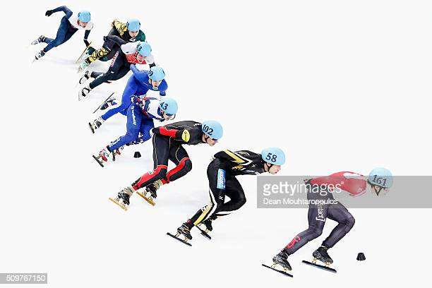 Alexander Fathoullin of Canada, Ryosuke Sakazume of Japan, Jens Almey of Belgium, Ruslan Zakharov of Russia and Suh Dufberg of Sweden compete in the...
