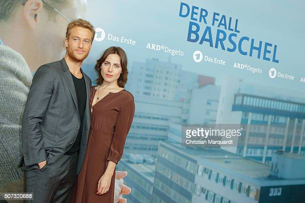 Alexander Fehling and Antje Traue attend the film premiere 'Der Fall Barschel' at Astor Film Lounge on January 28, 2016 in Berlin, Germany.