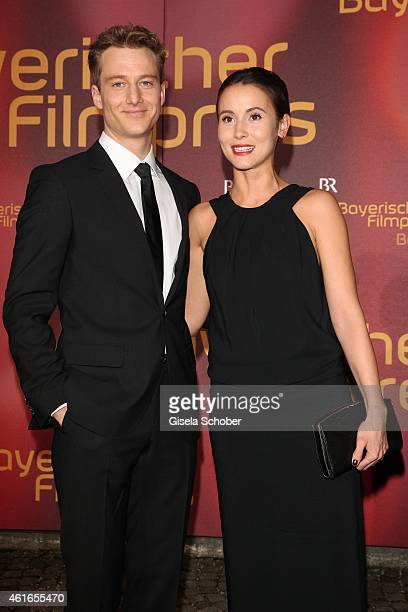 Alexander Fehling and his girlfriend Peri Bergmeister during the Bavarian Film Award 2015 on January 16 2015 in Munich Germany