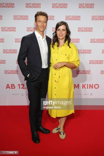 Alexander Fehling and Nora Tschirner attend the world premiere of the movie Gut gegen Nordwind at Cinedom on September 03 2019 in Cologne Germany