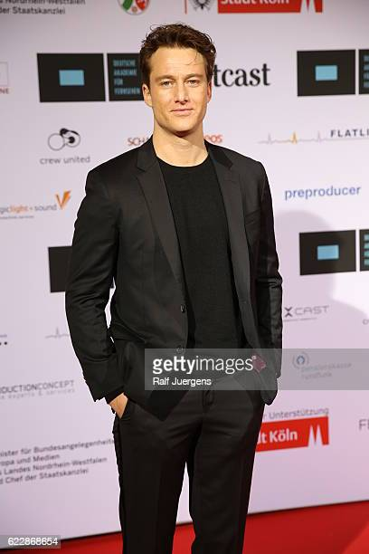 Alexander Fehling attends the German television award by the Deutsche Akademie fuer Fernsehen at Museum Ludwig on November 12 2016 in Cologne Germany