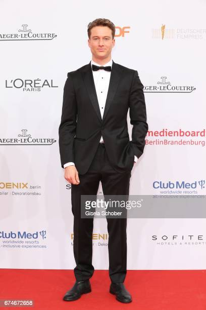 Alexander Fehling during the Lola German Film Award red carpet arrivals at Messe Berlin on April 28 2017 in Berlin Germany